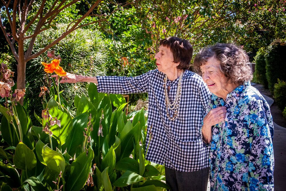 Ladies enjoying the garden